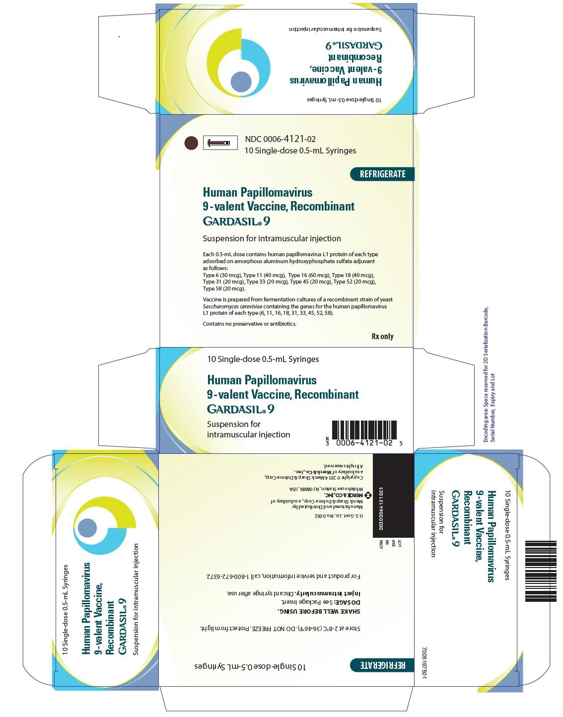 GARDASIL 9 PFS 10X0.5ML