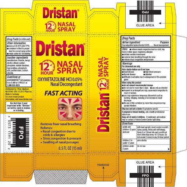 DRISTAN 12HR FAST ACT NASAL SPRAY 0.5OZ