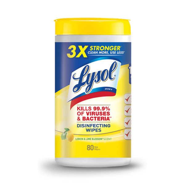 LYSOL DISINFECT WIPE LEM/LIME BLSM 80CT