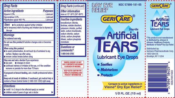 ARTIFICIAL TEARS DROPS 0.5OZ